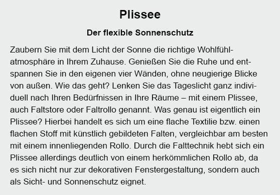 Plissee für  Kornwestheim