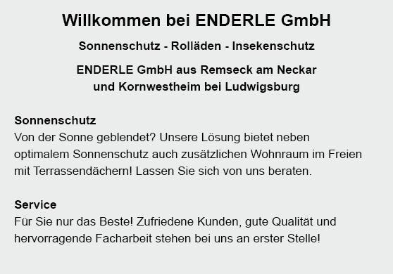 Sonnenschutz aus  Schorndorf, Adelberg, Lichtenwald, Berglen, Winterbach, Urbach, Plüderhausen oder Remshalden, Rudersberg, Baltmannsweiler