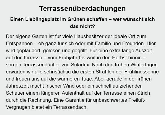 Terrassenüberdachungen aus  Kornwestheim